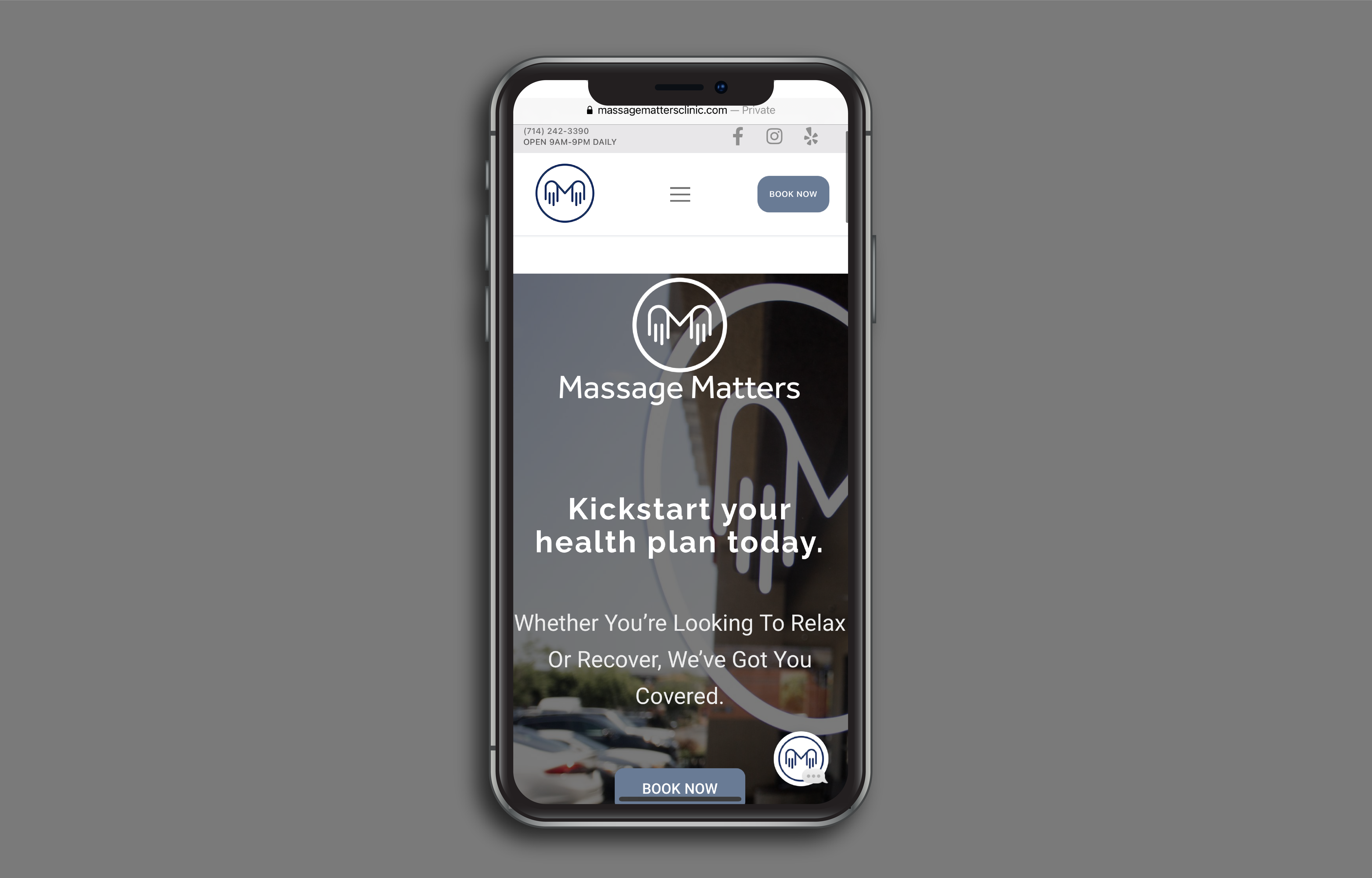 Massage Matters Clinic Website by Point Pacific Design